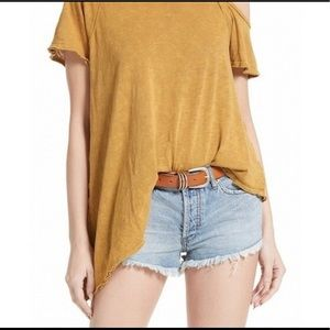 Free People Coraline Cold Shoulder Shirt NWT